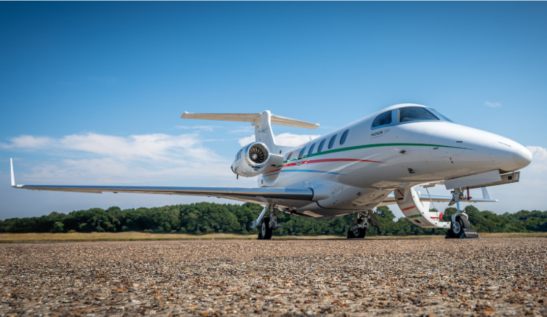 Repairing a Phenom 300 with a cut tyre